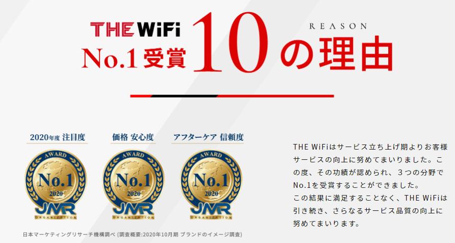 ザ・Wi-Fiの特徴表示画像